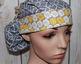 Surgical Scrub Hat ,Scrub Cap,Front Fold  Ponytail