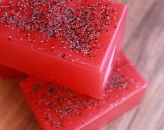 Sugared Strawberry Soap   Diamond Soap   Royalty Soaps