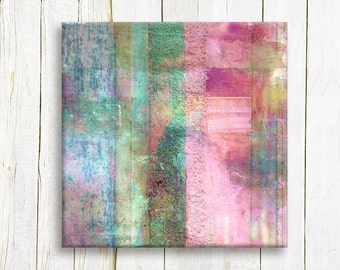 Square Geometric abstract Art Print on canvas - contemporary Art print - Wedding list gift idea
