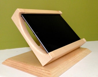 White Maple Tilting iPad / iPad Air Stand for Square POS and other Card Readers