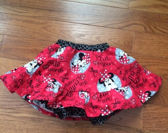Minnie Mouse skirt & bloomers