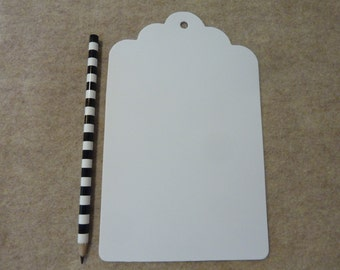 12 Giant Paper Tag Die Cut Party Favor Tags Paper Craft Supply Lot White