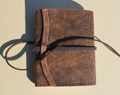 Distressed Pigskin Pocket Journal Diary Notebook (529)