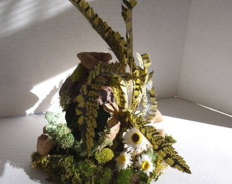 Enchanting ...Desert Cactus Boot Fairy House......OOAK