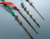 Choose One - Wizard Wand - Ornaments -READY TO SHIP
