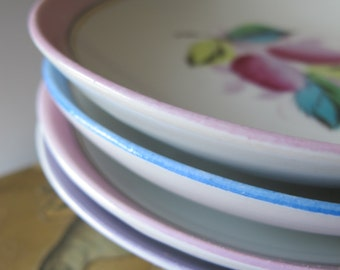 Romantic Home-Warming New Apartment Gift. Porcelain European Dishes. Dessert to Appetizer Size. Small to Medium. Porcelain Stamped Numbered