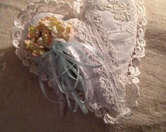 Lace Lavender Heart
