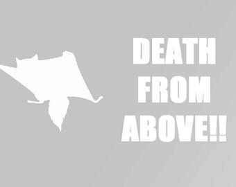 Death from Above Flyer Sticker