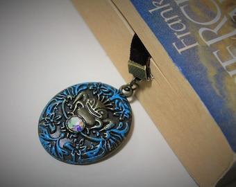 Frog Prince Velvet bookmark-Handmade bookmark-Fairytale bookmark-Charm bookmark-gift for readers -Happily ever after-Fantasy