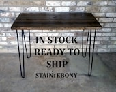 "Desk, 39""Lx20""Wx30""H, reclaimed wood, hairpin legs, in stock, ready to ship"