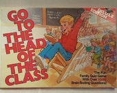 Complete Vintage 1986 Milton Bradley Go to the Head of the Class Family Quiz Game 2-6 Players 8 to Adult