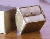 Free shipping! 14 KP gold and princess cut diamond ring size 5.5
