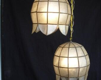 Capiz shell pendent lights
