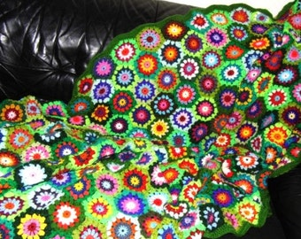 CROCHET PAttERN *Afghan UPCYCLED ReTRO HExAGON* e-book in US-English & German, instant download, pdf-datei, blanket, afghan, granny square