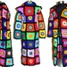 Multicolor Crochet COAT & HooDIE *Granny RainBoW FloWers to SquarE * XS-M
