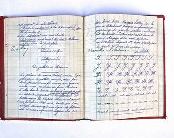 Old french school notebook  - 1934 -