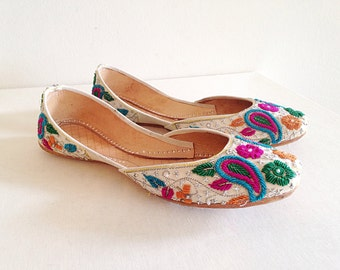 Ethnic Tribal Indian or Middle Eastern Market Shoes Wanderlust Boho Flats