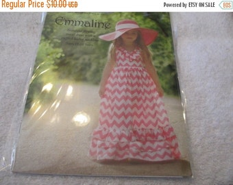 Spring Sale Emmaline Sewing Pattern for Girl's Dress by Violette Field Threads in sizes 2T-10