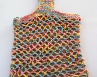 Crochet Eco-Friendly Market Bag Cotton Beach Tote
