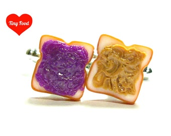 Peanut Butter and Jelly Cufflinks