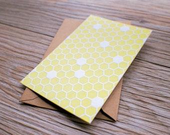 Honeycomb - Letterpress Mini Pattern Card