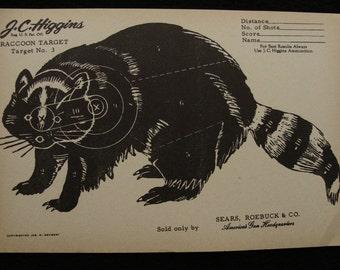 Vintage Racoon Target no. 3 by J C Higgins