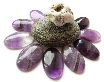 Natural Amethyst Cabochon 30 x 20 mm Purple Amethyst Gemstone Cabochon Oval Shape Purple Stone Cabochon Gemstone Cabochon Jewelry Supplies