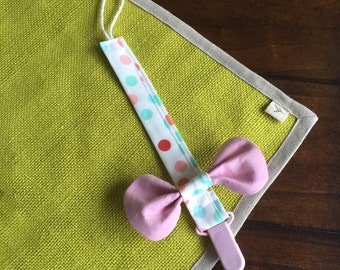 BOW TIE or BOWKNOT Pacifier Clip,Pacifier Holder (Personalized)