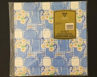 Vintage Gift Wrap - Ambassador - Shower Wrapping Paper - Hallmark