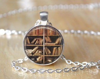 Library Necklace - Book Necklace - Mini Library Necklace - Tiny Library - Tiny Book Necklace - Book Lover Necklace 2