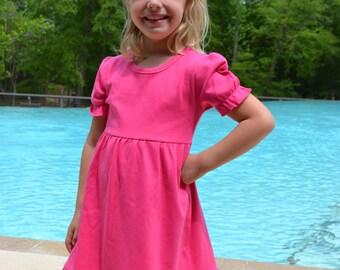 Pink Knit Dress Blank, Wholesale Blank Dress