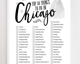 Chicago Bucket List 2.0 | Illinois | Wall Art Print Design