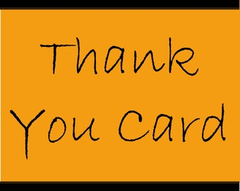 Add-on listing (Matching Thank You Card)