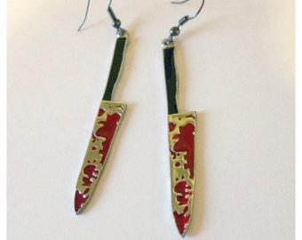 Bloody Knife Earrings