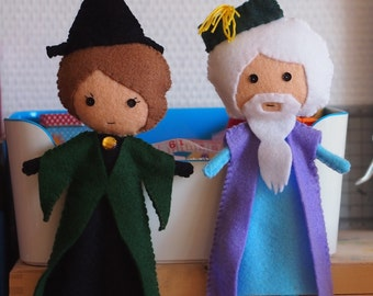 Harry Potter Inspired Felt Figure - Your Choice of Dumbledore or McGonagall