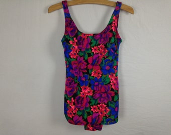 floral one piece swim suit size M/L