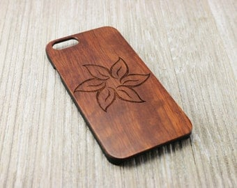 Flower Wooden Cell Phone Case - iPhone 6 - iPhone 6 plus - iPhone 6s - iPhone 6s plus - Samsung Galaxy S6 - Samsung Galaxy S7
