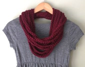 Oxblood Scarf Necklace . ...