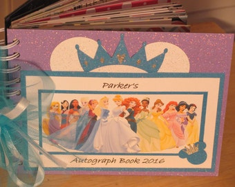 Disney Autograph Book with the PRINCESSES including Queen ELSA and Princess ANNA