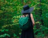 CUSTOM Leaf Bucket Backpack, Bohemian Backpack, Women's Waterproof Festival Backpack, Grunge Backpack, Hipster Backpack, School Backpack