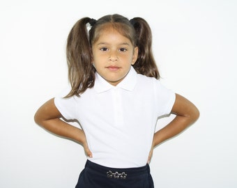girls fitted school Polos FREE SHIPPING