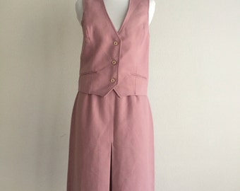 Pink Dimensions Skirt Suit
