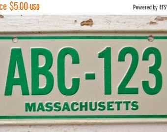 ON SALE Vintage, Massachusetts, 1979, Bike Plate, Bicycle, License Plate, Cereal Premium, Miniature, Tin, Embossed, Collectibles