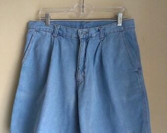 80% Off WINTER SALE Mens Vintage 80s Gitano Light Blue Denim Jean Hipster Shorts Grunge Sz 34