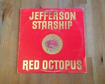 "Red Octopus by JEFFERSON STARSHIP Vintage Vinyl (1975) Grunt Records 12"""