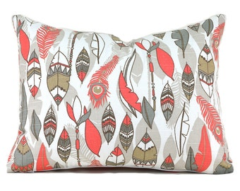 60% CLEARANCE SALE Lumbar Pillow Cover Decorative Pillow Cover Coral Pillow Premier Prints Cheyenne Bittersweet