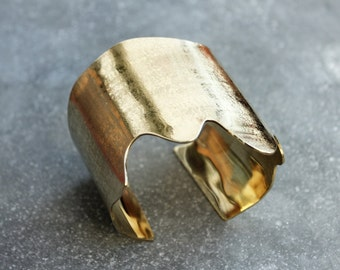MELT cuff bracelet - reclaimed brass