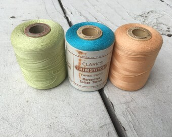 Thread--Three large Spools--Vintage