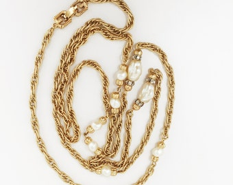 70s GIVENCHY Classic Sautoir NECKLACE - Excellent Vintage Condition - Mother's Day Gift / Bar Mitzvah / Graduation / Engagement / Wedding