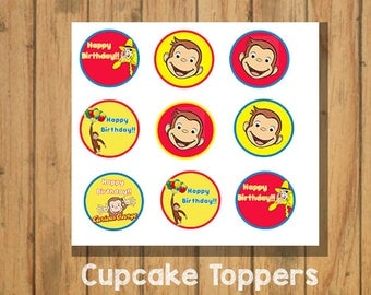Curious George Cupcake Toppers